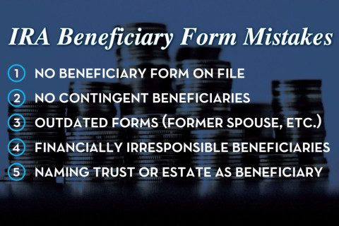 5 ira beneficiary form mistakes