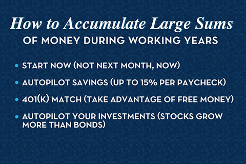 accumulate wealth