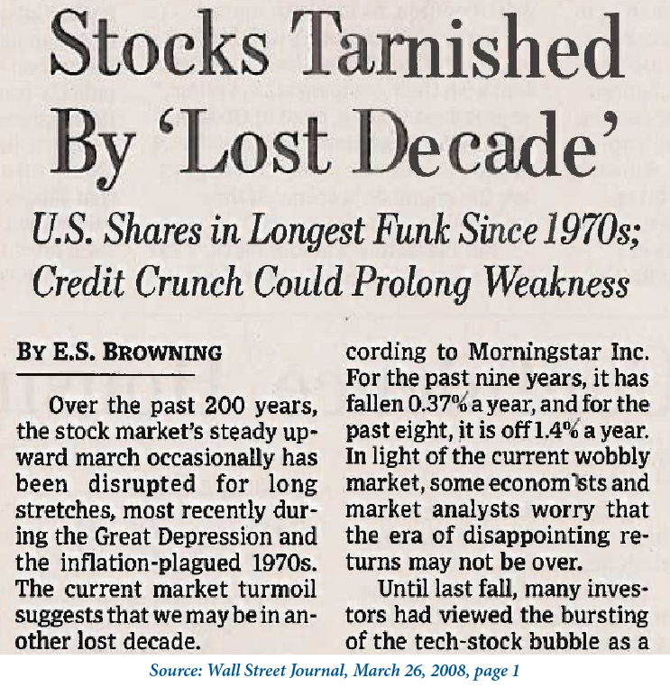 Lost Decade News Article