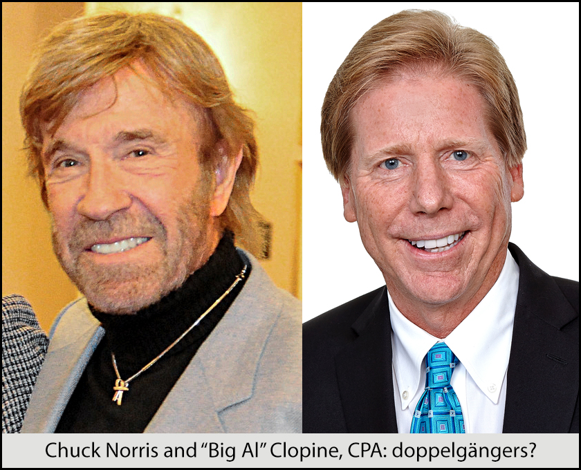 Chuck Norris and Alan Clopine: doppelgängers?