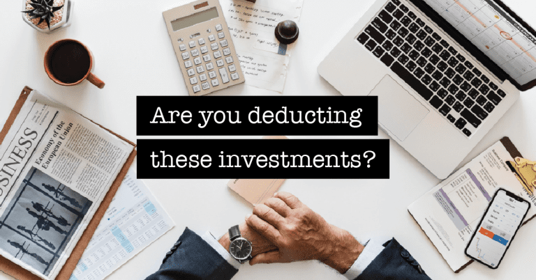 Are Investments Tax Deductible