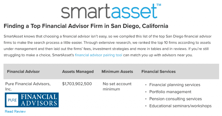 Pure Ranked Top 10 Financial Advisors in San Diego | Pure Financial ...